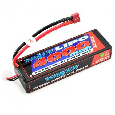 Voltz 4000mah Hard 7.4V 50C LiPo Stick Pack Battery VZ0310