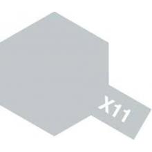 Tamiya 81511 X-11 Chrome Silver Acrylic Paint Mini 10ml