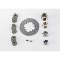 Traxxas Rebuild kit, slipper clutch (steel disc/ friction pads (3)/ spring (2)/)