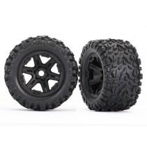 Traxxas Tires & Wheels assembled (Black, Talon EXT tires) (2) Z-TRX8672