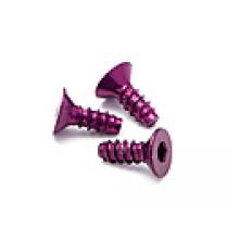HPI Aluminium TP Flat Head Screw 3x8mm (Hex socket) Purple (5) Z076