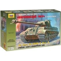 Zvezda Pz. Kpfw. VI Tiger II Ausf. B (Porsche Turret) German Heavy Tank Z3616