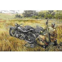 Zvezda Z3651 Soviet Motorcycle M-72 with Mortar 1/35