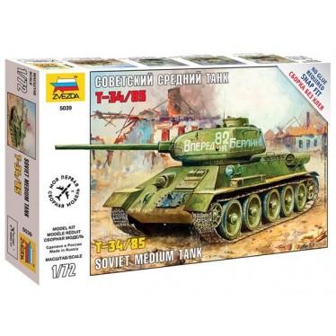 Zvezda T-34/85 Soviet Medium Tank Z5039