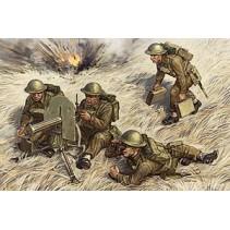 Zvezda British Machine Gun Vickers with Crew 1939-19431/72 Z6167