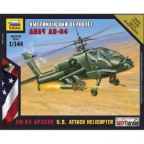 Zvezda AH-64 Apache U.S. Attack Helicopter 1:144 7408
